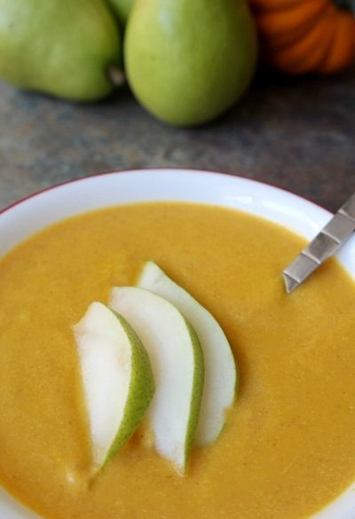 Delicious & Flavorful Fall Recipe: Pear & Pumpkin Soup