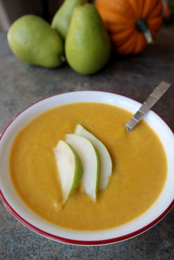 Pear & Pumpkin Soup - Yum