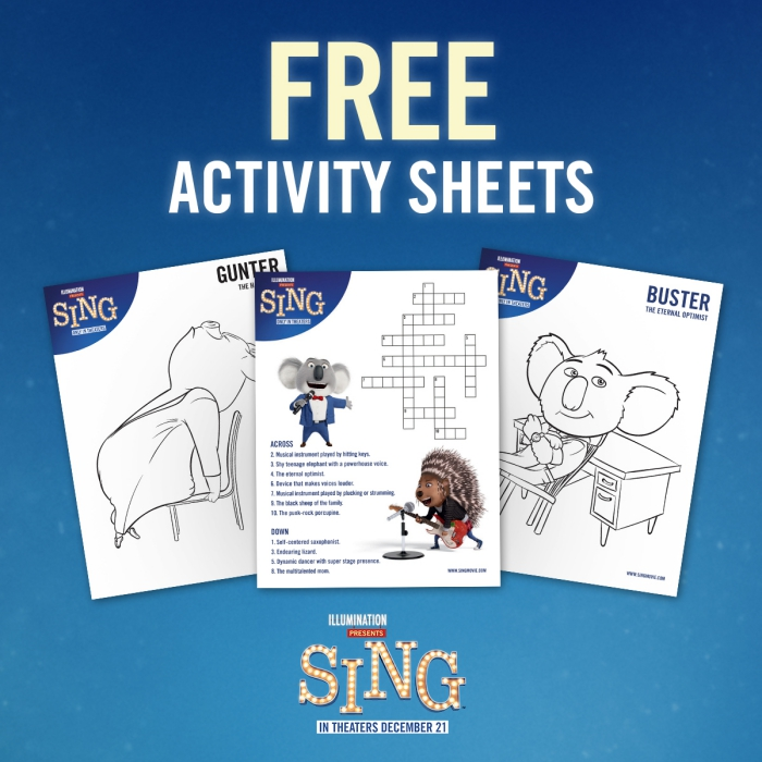 Sing Activity Sheets