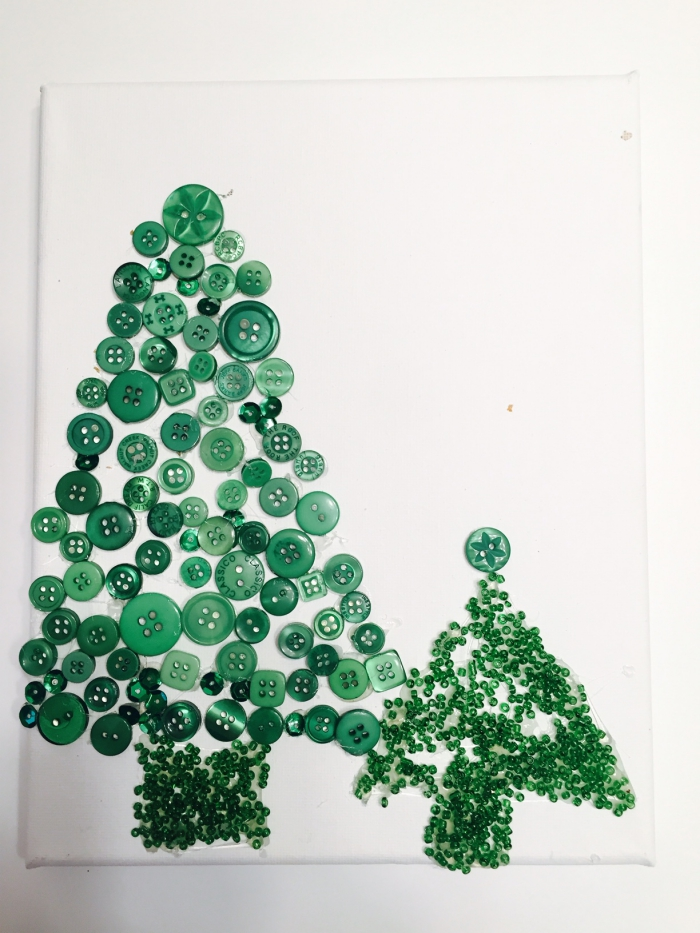 DIY Button Christmas Tree 2 Styles