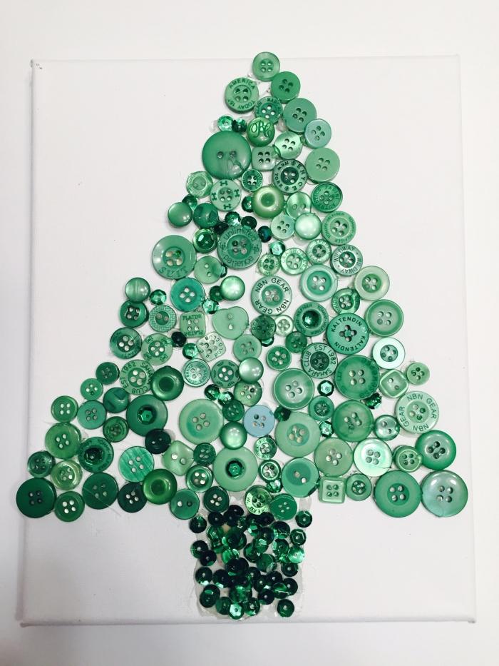 DIY Button Christmas Tree Fun