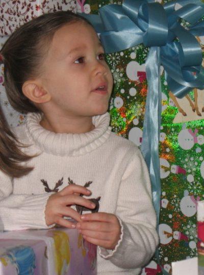 Kora at Christmas