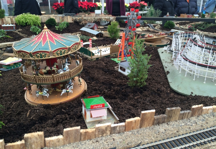 Puritas Nursery Holiday Train Display Amusement Park