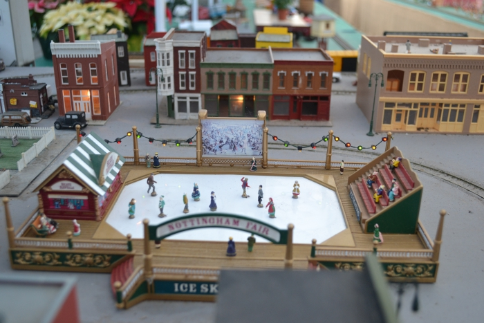 Puritas Nursery Holiday Train Display Ice Rink