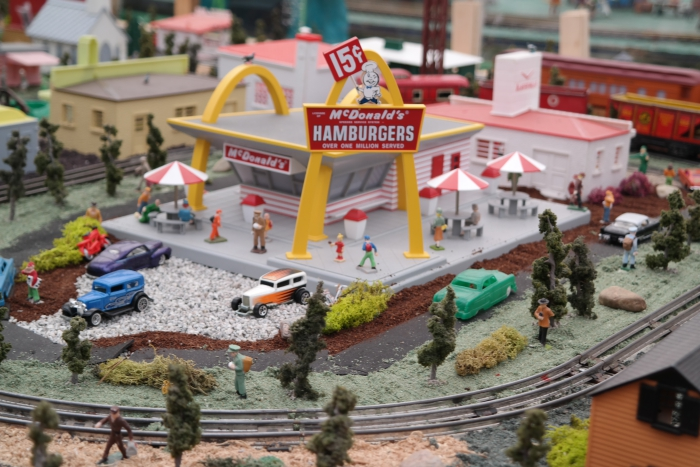 Puritas Nursery Holiday Train Display McDonald's