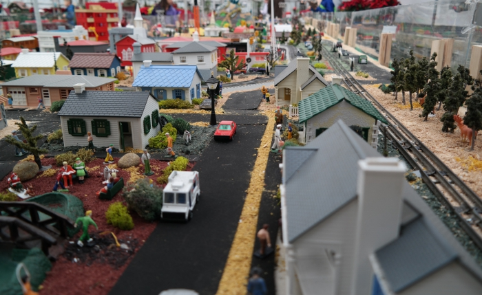Puritas Nursery Holiday Train Display Village