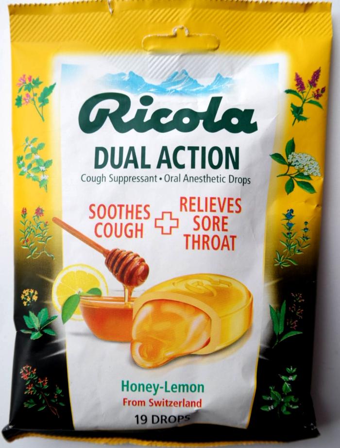 Ricola Dual Action Cough Drops Honey Lemon