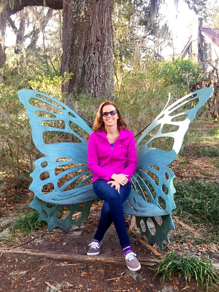 Myrtle Beach Brookgreen Gardens Butterfly Bench