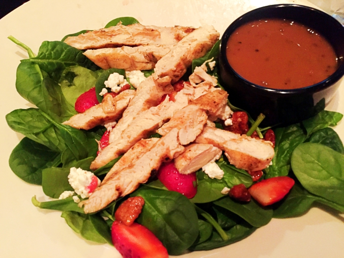 Where To Eat In Myrtle Beach - Liberty Tap Room Strawberry Spinach Salad