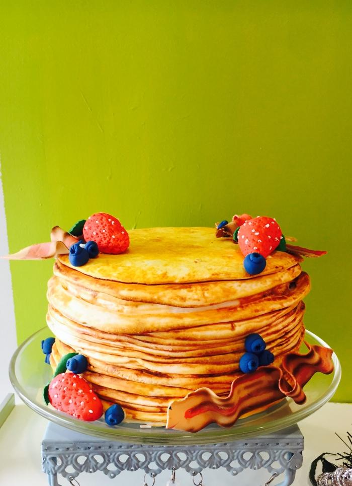 Pancake Cake At Cake Crumbs Bakery in Southfield Michigan