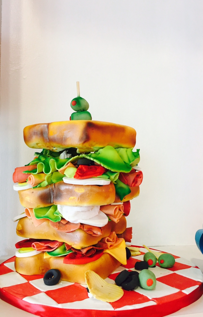 Sandwich Cake at Cake Crumbs Bakery in Southfield Michigan