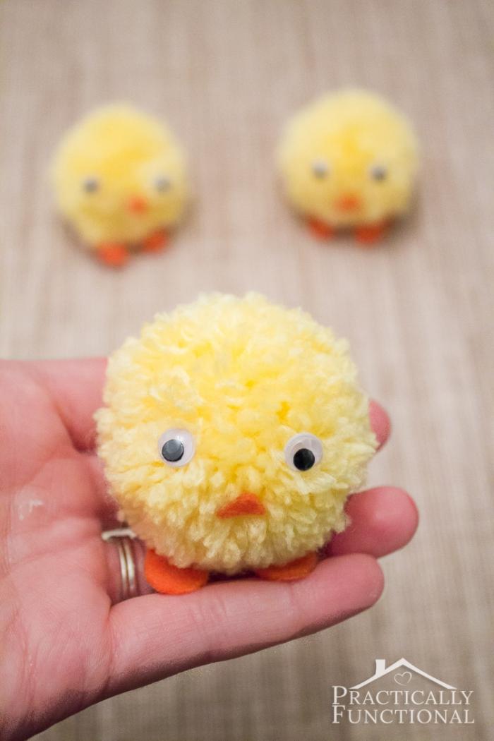 Easter Crafts For Kids - Pom Pom Chick