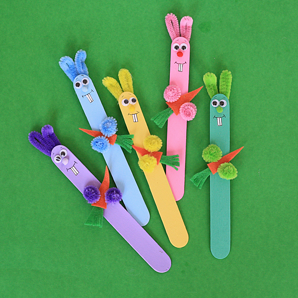 Easter Crafts For Kids - Craft Stick Bunnies