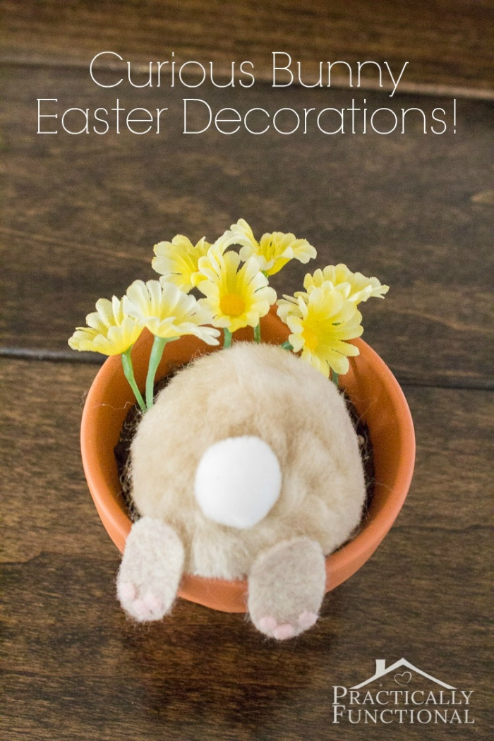Easter Crafts For Kids - Curious Bunny Flower Pot