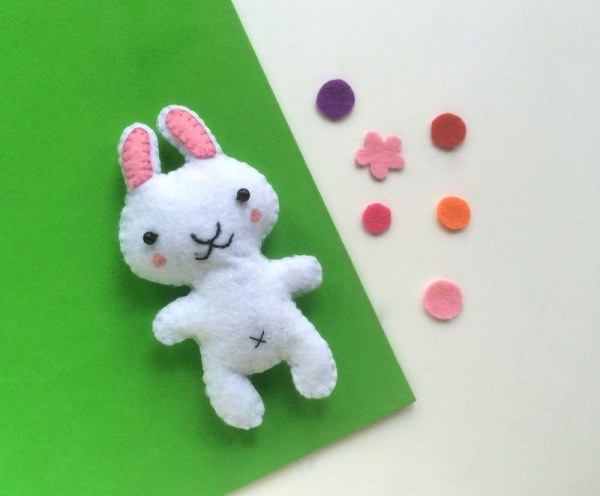Easter Crafts For Kids - DIY Plush Bunny