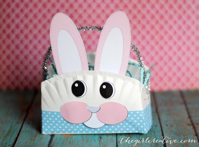 Easter Crafts For Kids - Paper Plate Bunny Basket