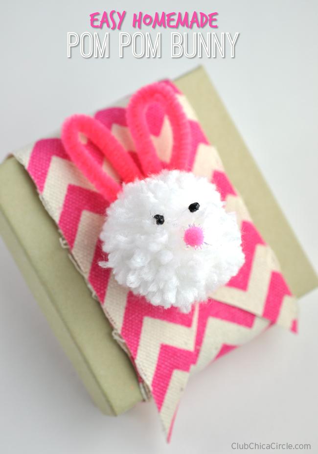 Easter Crafts For Kids - Pom Pom Bunny