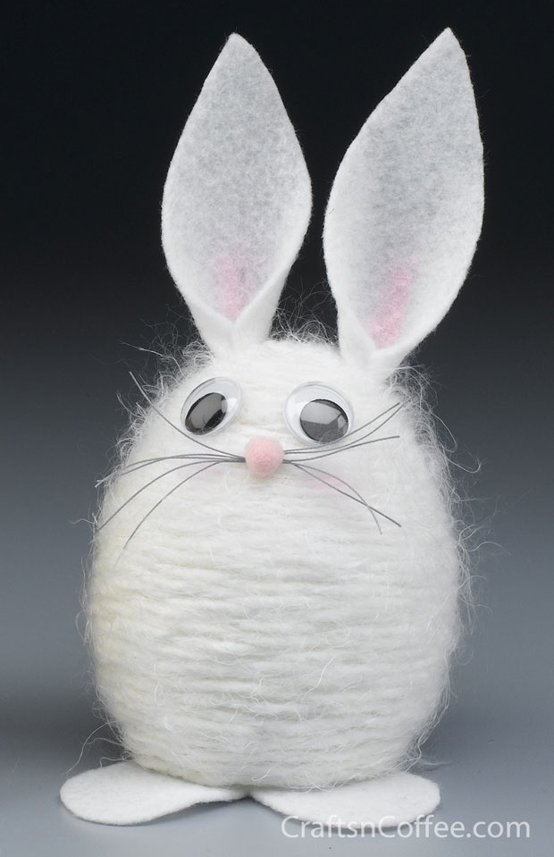 Easter Crafts For Kids - Yarn Bunny