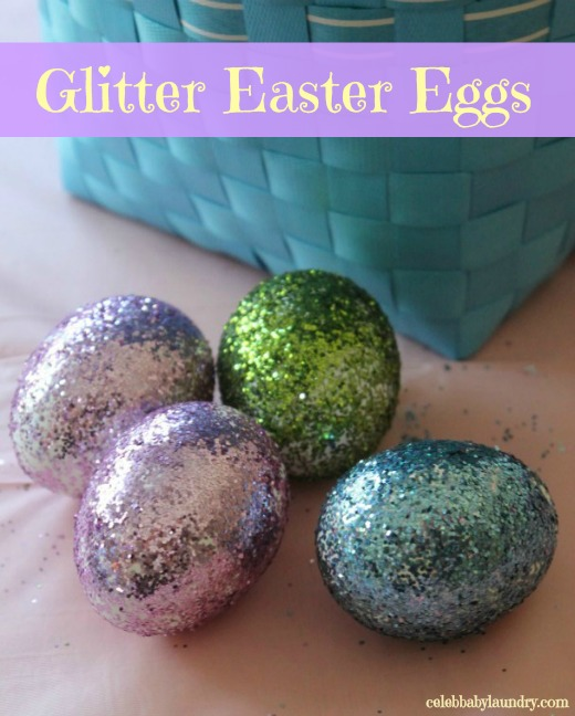 Easter Egg Decorating Ideas - Glitter Eggs