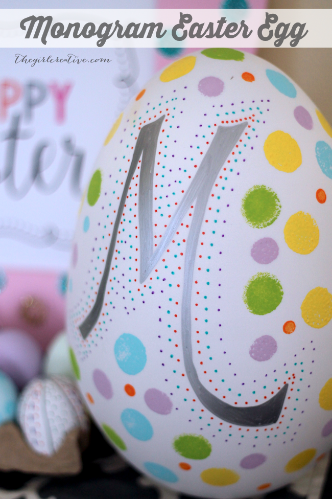 Easter Egg Decorating Ideas - Monogram Eggs
