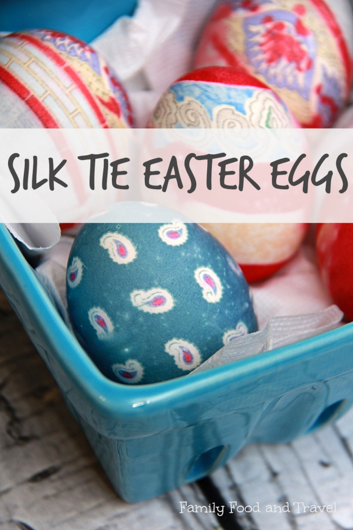 Easter Egg Decorating Ideas - Silk Tie Eggs