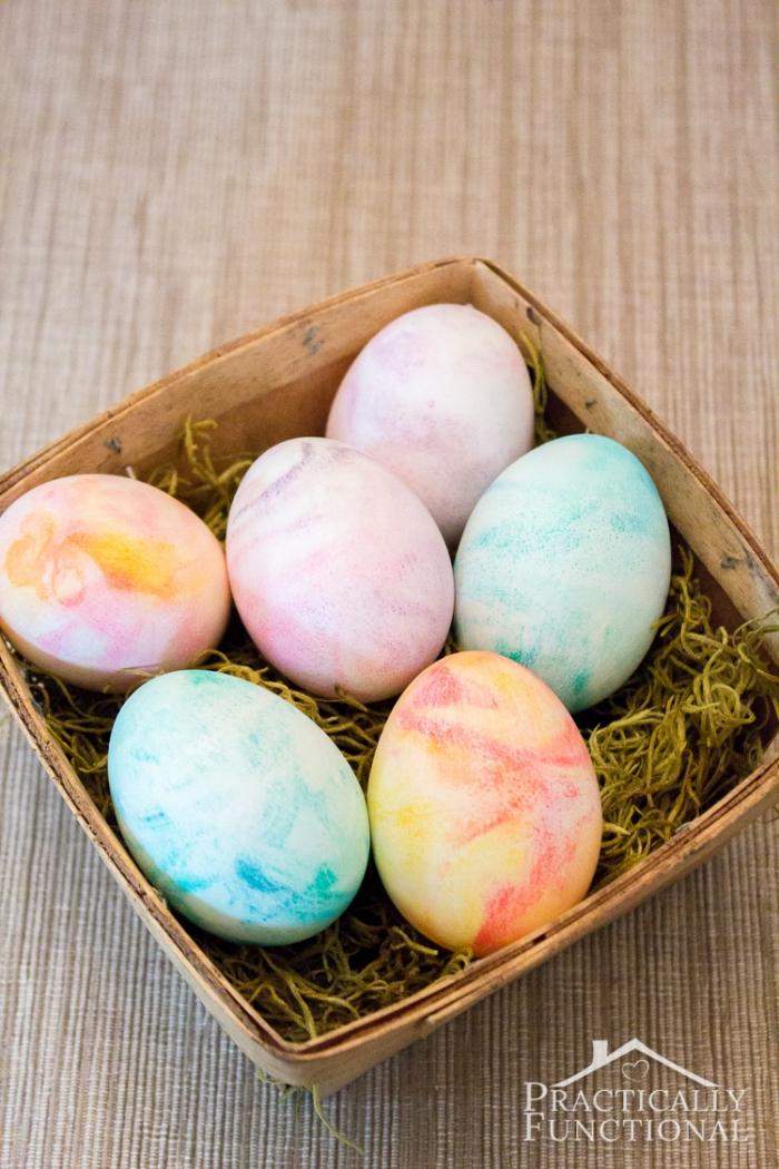 Easter Egg Decorating - Shaving Cream