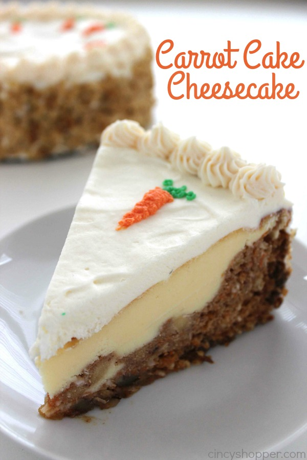 Easter Recipes - Carrot Cake Cheesecake