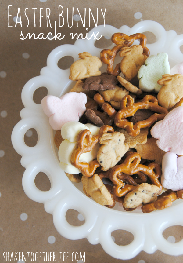 Easter Recipes - Easter Bunny Snack Mix