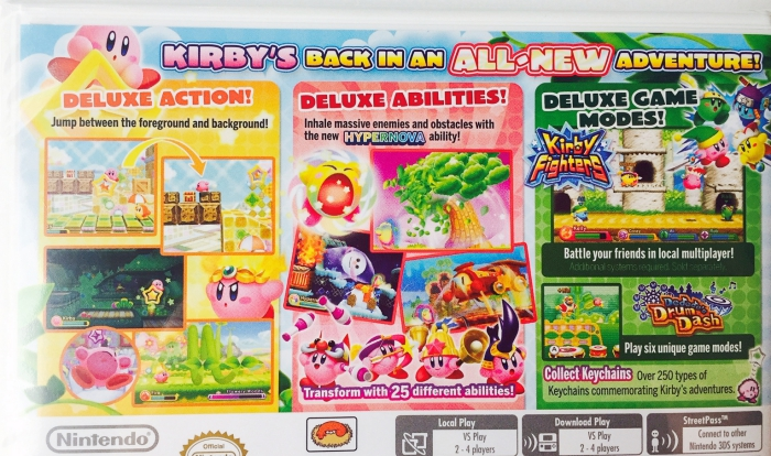 Nintendo 3DS Gift Guide - Kirby Triple Deluxe Back