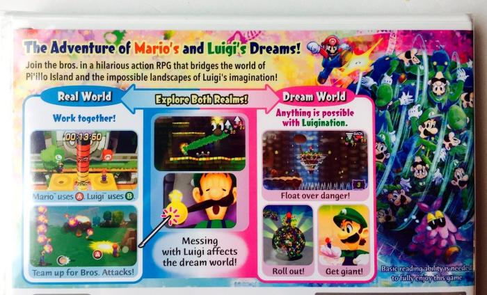 Nintendo 3DS Gift Guide - Mario & Luigi Dreamteam Back