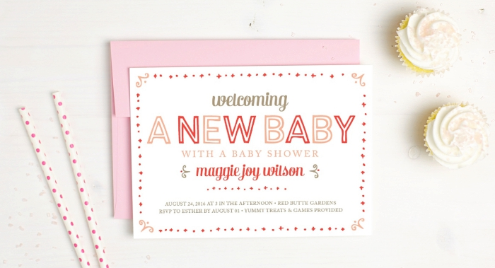 Baby Shower Invite - Basic Invite