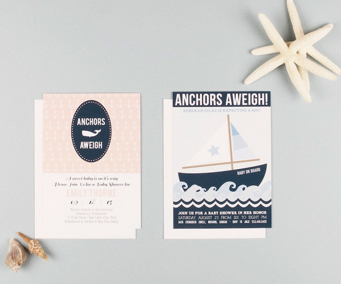 Baby Shower Invites - Basic Invite Nautical