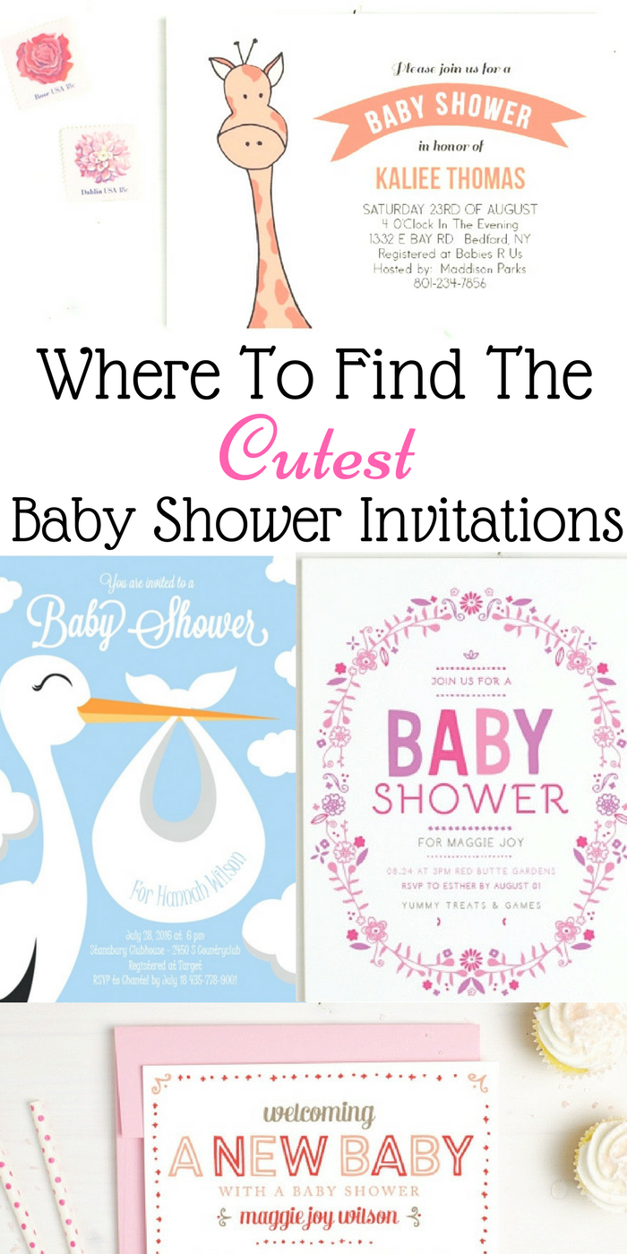 Where To Find The Cutest Baby Shower Invitations