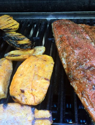 Summertime = BBQ! Grilled Salmon & Sweet Potatoes