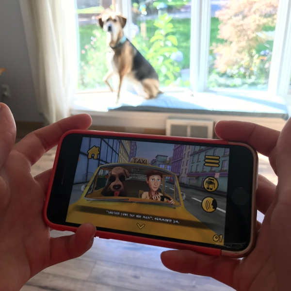 Maxi The Taxi Dog App Review 3D Augmented Reality For Kids - 2 Wired 2 Tired