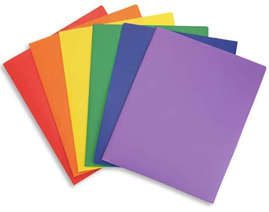 Amazon Happy School Year Multicolor 2 Pocket Folders