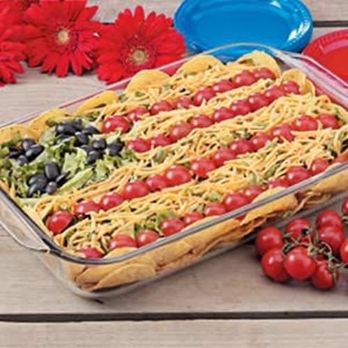 Flag Taco Salad