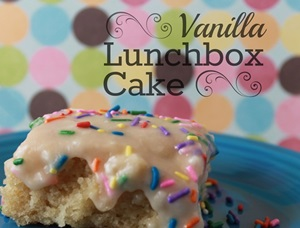 Vanilla Lunchbox Cake Featured