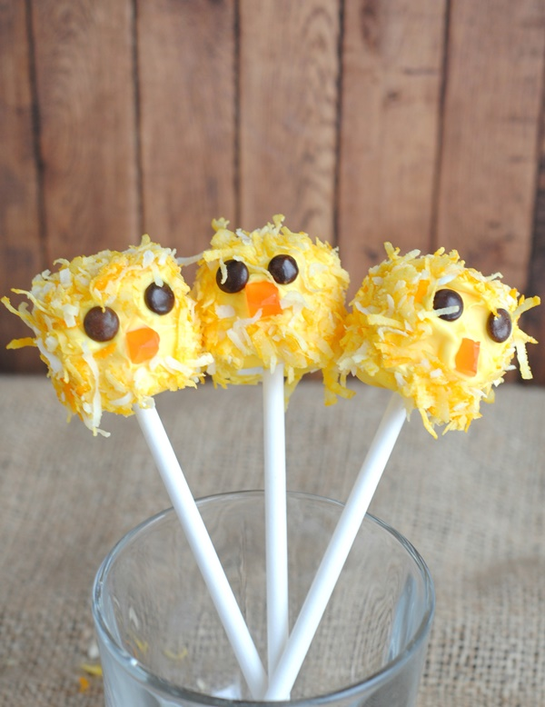 Cute Easter Chick Pops