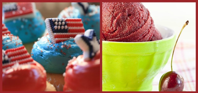 Red White & Blue Recipes Featured