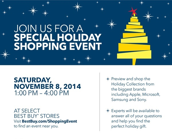 One Day Only Best Buy Holiday Shopping Event