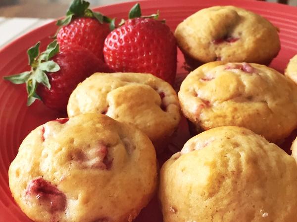 Strawberry Pancake Mini Muffins